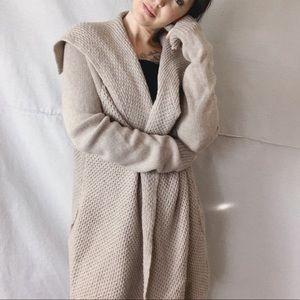VINCE Wool/Yak Honeycomb Knit Jacket Cardigan